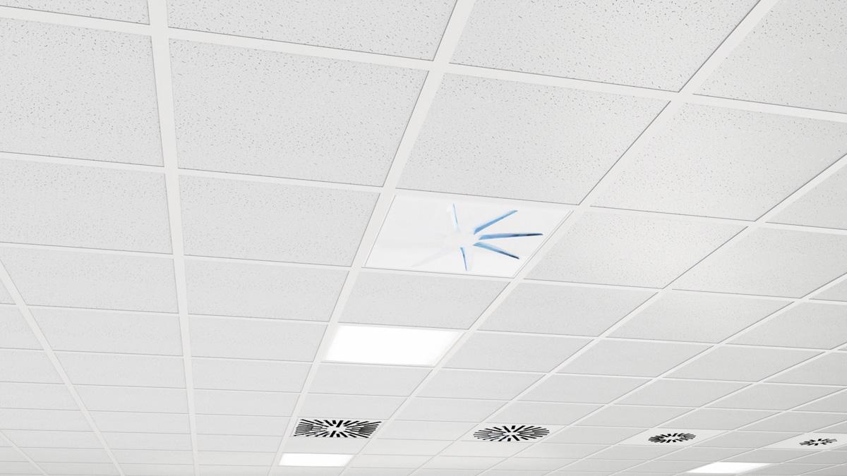 OTO-UV Architectural Swirl UV Diffuser with AXO-UV Series in the background