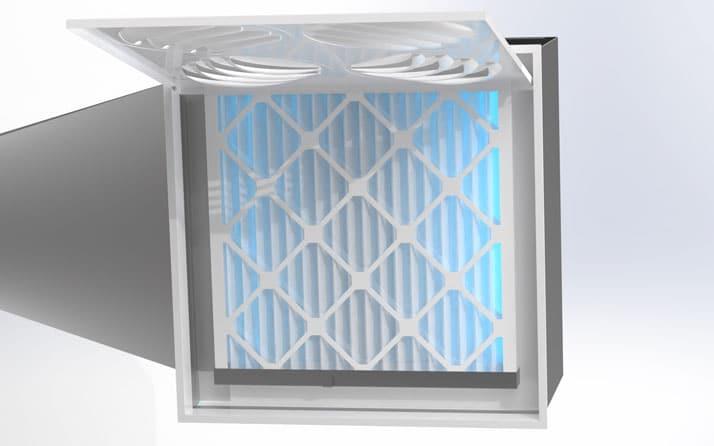 UV Diffuser with MERV-9 Filter