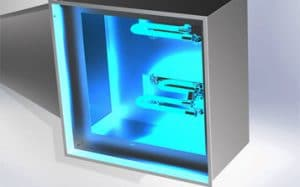 UVC Air Disinfection - UV Diffuser with 2 UV Lamps
