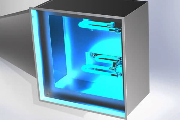 High Performance UVC Air Disinfection with UV Diffusers