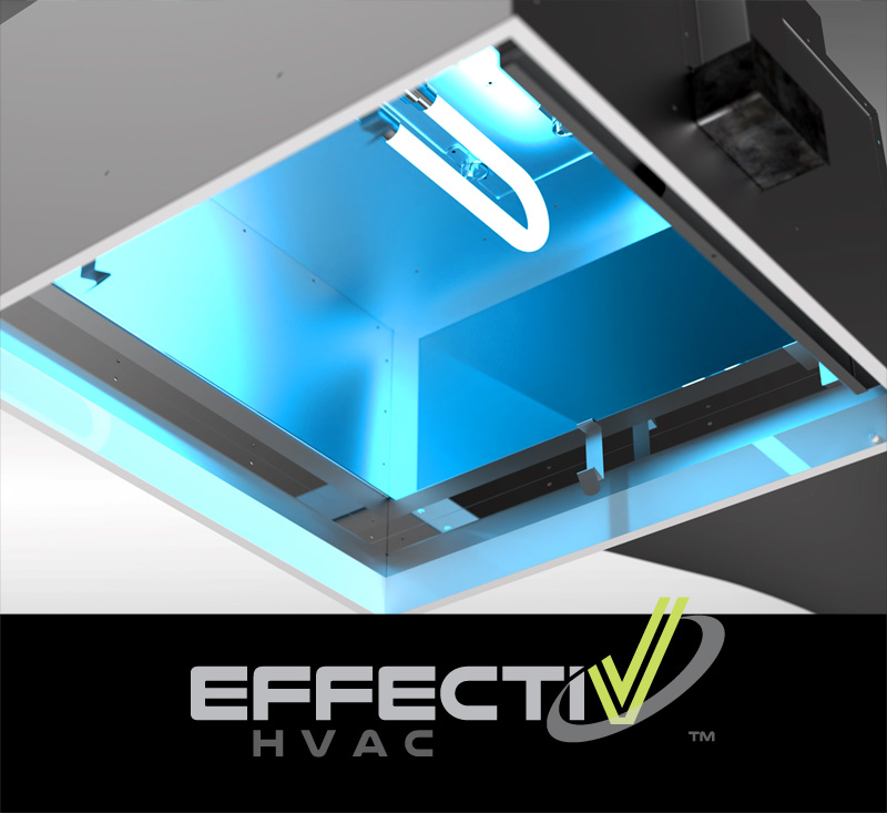 Air Disinfection Using UV-C Light in UV Diffuser by EffectiV HVAC